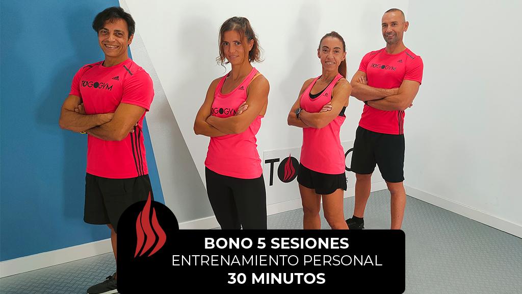 Entrenamiento Personal BONO 5 SESIONES 30 minutos