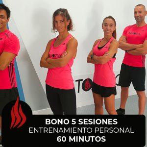 Bono de 5 sesiones de Entrenamiento Personal de 60 minutos